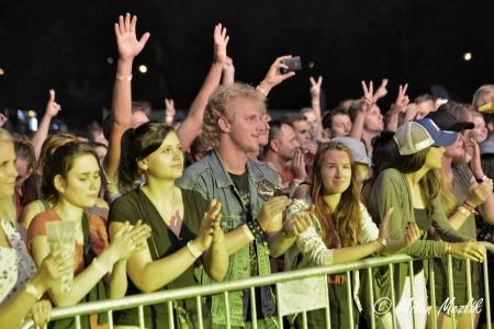 Pohled do nadšeného publika třebíčského festivalu