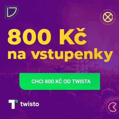 Plaťte s Twistem na jedno kliknutí a roztočte to na Ticketlive s kreditem 800 Kč!