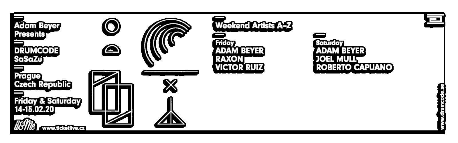 Adam Beyer DRUMCODE WEEKEND Praha 2020