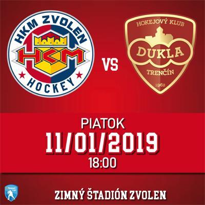 HKM Zvolen - HK Dukla Trenčín 11.01.2019