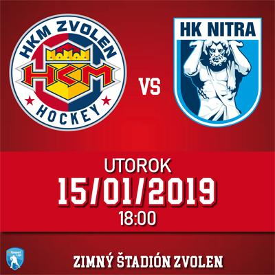 HKM Zvolen - HK Nitra 15.1.2019