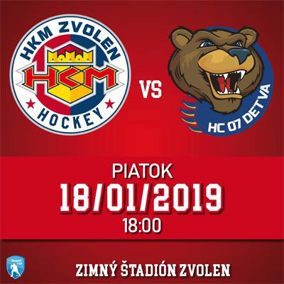 HKM Zvolen - HC 07 Detva 18.1.2019