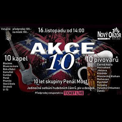 AKCE 10 / 10 kapel / 10 druhů piv / 10 let skupiny Penál