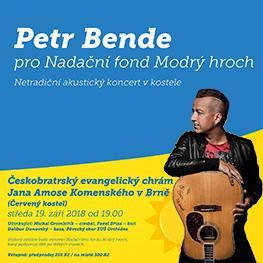 Petr Bende pro Nadační fond Modrý hroch v Brně