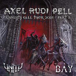 KNIGHTS CALL TOUR 2018 <br>AXEL RUDI PELL