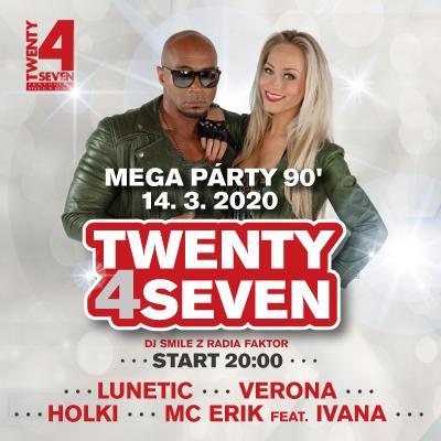 Mega Party 90's České Budějovice 2020