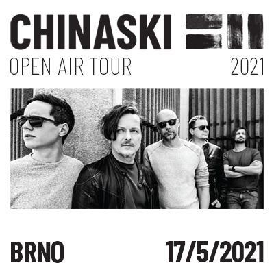 CHINASKI OPEN AIR TOUR 2021 - Brno