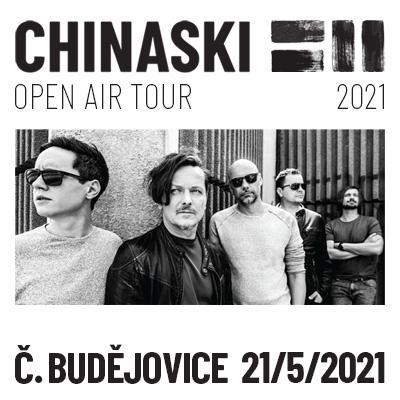 CHINASKI OPEN AIR TOUR 2021 - České Budějovice