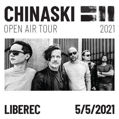 CHINASKI OPEN AIR TOUR 2021 - Liberec