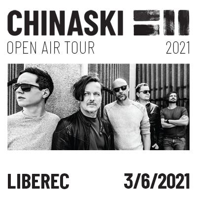 CHINASKI OPEN AIR TOUR 2021 - Liberec