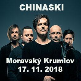CHINASKI <br>Podzimní turné 2018 <br>MORAVSKÝ KRUMLOV