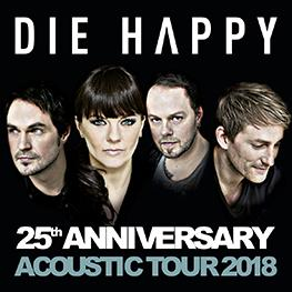 DIE HAPPY 25th Anniversary Acoustic Tour 2018