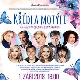 5. ročník benefičního koncertu<br> Křídla motýlí 2018
