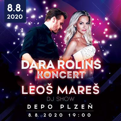 Koncert Dary Rolins a DJ Show Leoše Mareše v Plzni