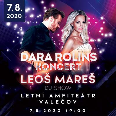 Koncert Dary Rolins a DJ Show Leoše Mareše ve Valečově