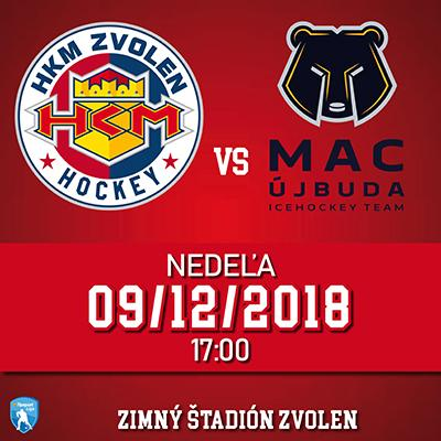 HKM Zvolen - MAC Újbuda 09.12.2018