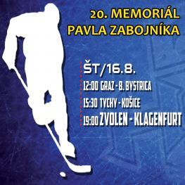 20. memoriál Pavla Zábojníka 16.8.2018