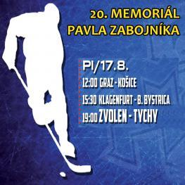 20. memoriál Pavla Zábojníka 17.8.2018