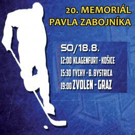 20. memoriál Pavla Zábojníka 18.8.2018