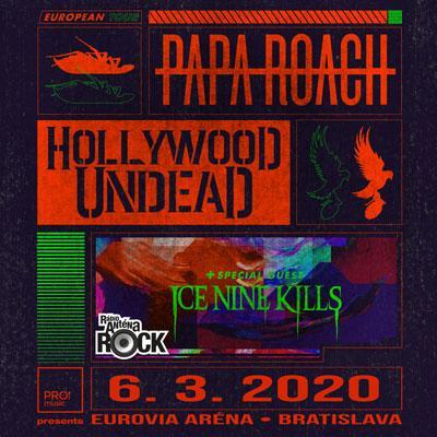 Papa Roach & Hollywood Undead <br/>Bratislava