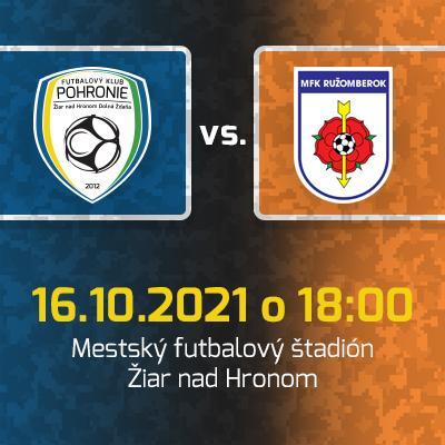 FK Pohronie - MFK Ružomberok / 11. kolo