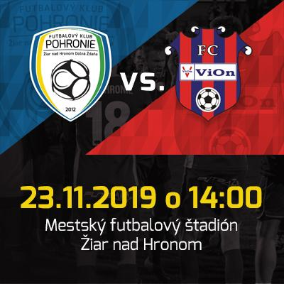 FK Pohronie - FC Vion Zlaté moravce