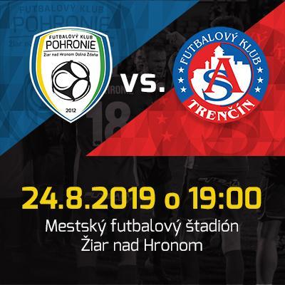 FK Pohronie - AS Trenčín // Fortuna Liga // 24.08.2019