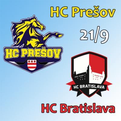 HC Prešov - HC Bratislava 21.9.2018