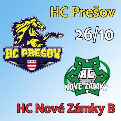 HC Prešov - HC Nové Zámky B 26.10.2018