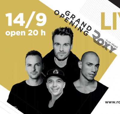 GRAND OPENING LIVE SHOW EVROPA 2<br> Leoš Mareš, Michael C, DJ Brian, DJ Lafayette