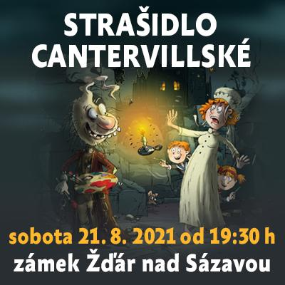 Strašidlo cantervillské / zámek Žďár nad Sázavou 21. 08. 2021
