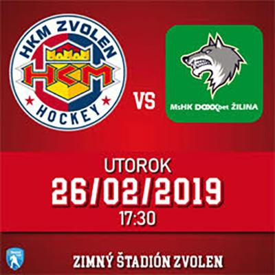 HKM Zvolen - MsHK DOXXbet Žilina 26.02.2019