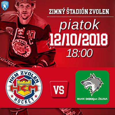 HKM Zvolen - MsHK Žilina 12.10.2018