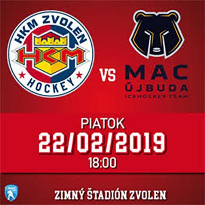 HKM Zvolen - MAC Újbuda 22.02.2019
