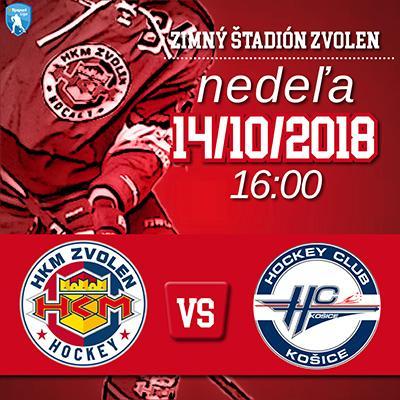 HKM Zvolen - HC Košice 14.10.2018