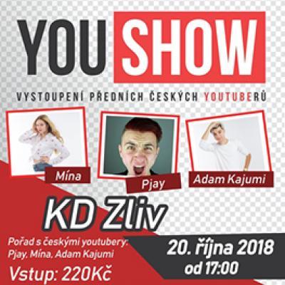 YOU SHOW 2018<br> Pořad s českými youtubery: Pjay, Mína, Adam Kajumi