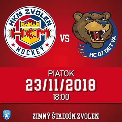 HKM Zvolen - HC 07 Detva 23.11.2018