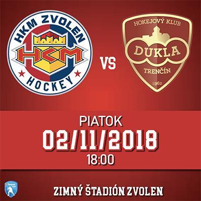 HKM Zvolen - HK Dukla Trenčín 02.11.2018